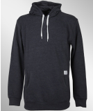 Cleptomanicx Patch Hooded Pullover Heather Dark Navy