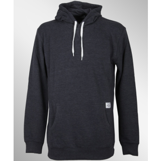 Cleptomanicx Patch Hooded Pullover Heather Dark Navy M