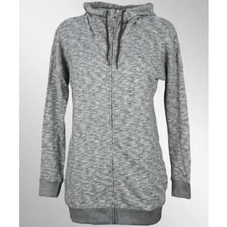 Volcom Lived In Long Zip Hoodie Charcoal Heather