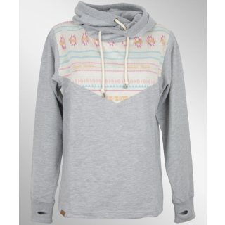 Shisha Pardel Hooded Girls Pullover Ash