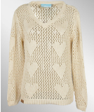 Shisha HART Knitsweater Girls Papyrus White