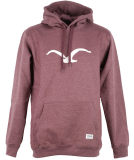 Cleptomanicx MOWE Hooded heather tawny port M