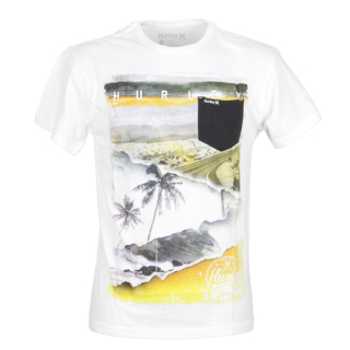 Hurley CRAVING POCKET TEE white