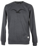 Cleptomanicx MÖWE Crewneck heather black