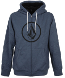 Volcom Stoned Lined Zip Zipper Smokey Blue