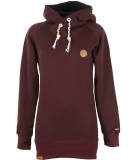 Shisha Felli Longhooded Pullover Ruby Red Melange