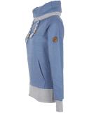 Shisha Kroon Hooded Damen Pullover Steel Blue Melange