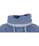 Shisha Kroon Hooded Damen Pullover Steel Blue Melange L
