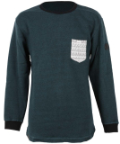 Shisha Wellig Sweater Pullover Forrest Green Ash L