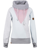 Shisha Düün Hooded Girls Pullover Illusion Blue Zephyr Rose
