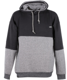 Shisha Taude Hooded Mens Pullover Black Wave Melange Black