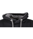 Shisha Taude Hooded Mens Pullover Black Wave Melange Black S