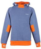 Shisha Storm Hooded Uni Pullover Steel Blue Orange