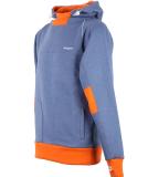 Shisha Storm Hooded Uni Pullover Steel Blue Orange S