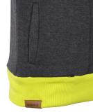 Shisha Storm Hooded Mens Pullover Anthracite Lime