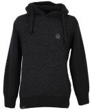 Shisha Rappel Knit-Hooded Herren Strickpullover Black Anthracite S
