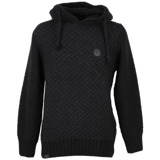 Shisha Rappel Knit-Hooded Herren Strickpullover Black Anthracite M