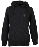Shisha Rappel Knit-Hooded Herren Strickpullover Black...