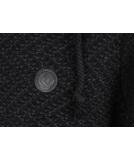 Shisha Rappel Knit-Hooded Herren Strickpullover Black Anthracite M
