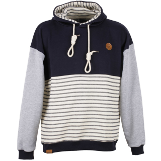 Shisha Seemann Hooded Uni Pullover Striped Navy