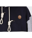 Shisha Seemann Hooded Uni Pullover Striped Navy