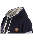 Shisha Seemann Hooded Uni Pullover Striped Navy M