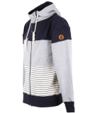 Shisha Dreefach Ziphood Uni Zipper Navy Ash Striped
