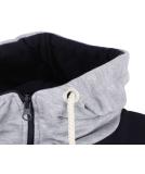 Shisha Dreefach Ziphood Uni Zipper Navy Ash Striped