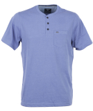 Hurley Dri-Fit Lagos Henley 3.0 T-Shirt Blue Moon