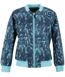 Cleptomanicx Leaves Bomber All Season Damen Jacke Dusty Turquoise L