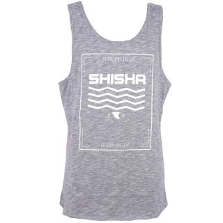 Shisha Pieer Tanktop Navy Red Flame