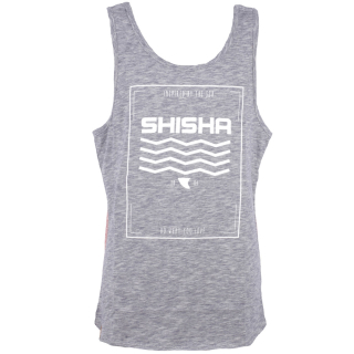 Shisha Pieer Tanktop Navy Red Flame L
