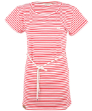 Shisha Ringel Teeshirt-Dress Damen Kleid Red White Striped