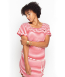 Shisha Ringel Teeshirt-Dress Damen Kleid Red White Striped