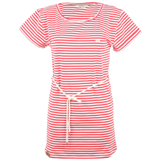 Shisha Ringel Teeshirt-Dress Damen Kleid Red White Striped XS