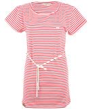 Shisha Ringel Teeshirt-Dress Damen Kleid Red White Striped S