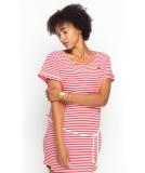 Shisha Ringel Teeshirt-Dress Damen Kleid Red White Striped L