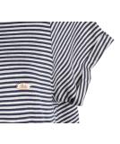 Shisha Snöören Teeshirt-Dress Damen Kleid Navy Ash Striped
