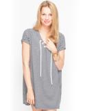 Shisha Snöören Teeshirt-Dress Damen Kleid Navy Ash Striped M