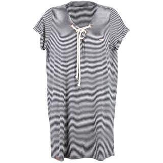 Shisha Snöören Teeshirt-Dress Damen Kleid Navy Ash Striped L