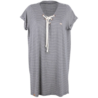 Shisha Snöören Teeshirt-Dress Damen Kleid Navy Ash Striped XL