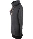 Shisha Klaasje Longhooded Damen Pullover Anthracite XL