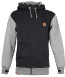 Shisha Rust Ziphood Zipper Herren Sweatjacke Black schwarz