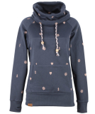 Shisha Gemuutlich Hooded Damen Pullover Blueberry Pink