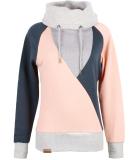 Shisha Düün Hooded Damen Pullover Blueberry Coral Pink XL