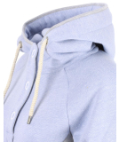 Shisha Parl Hooded Damen Pullover Light Blue Flame