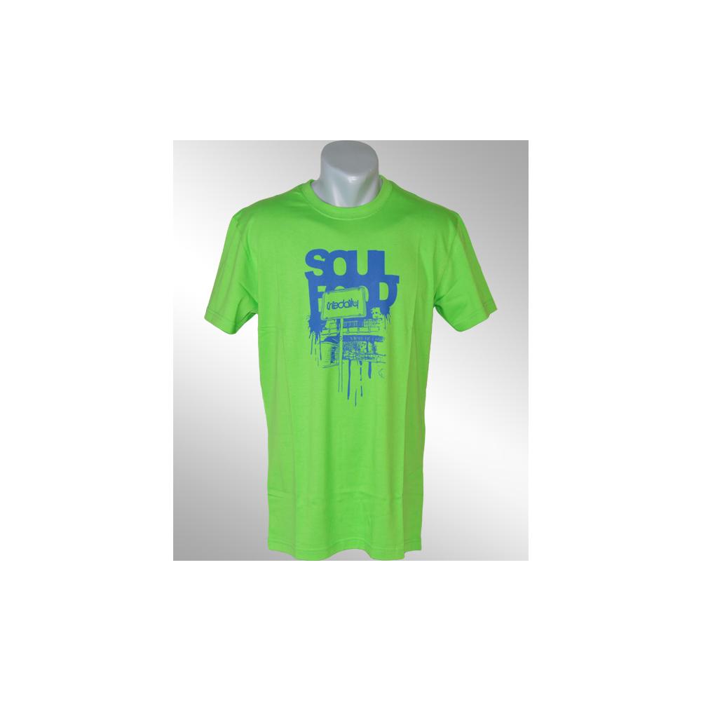 iriedaily soul food t shirt neon green 19 90. Black Bedroom Furniture Sets. Home Design Ideas