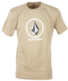 Volcom Crisp Basic Herren T-Shirt Sand Brown