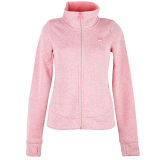 Bench Short Bonded Jacke Damen Strickjacke Strawberry Pink