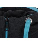 deineKlamotte Basic Ziphood Sweatjacke Anthracite Blue - Kooperation mit Shisha XS
